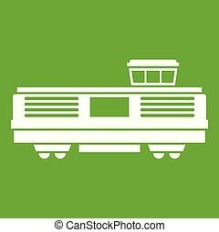 Freight train icon green