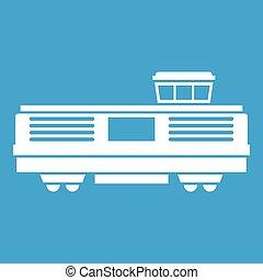 Freight train icon white