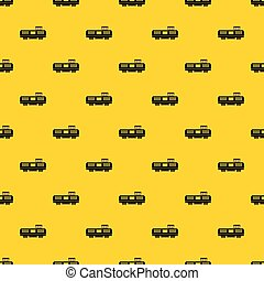 Freight train pattern vector