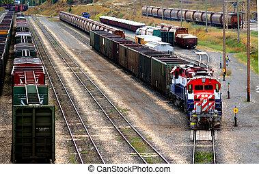 Freight Train - a train yard