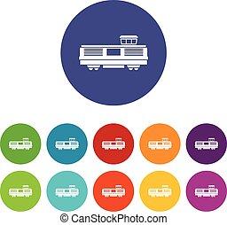 Freight train set icons