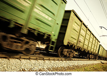 freight train - special toned and blur-motion photo f/x,...