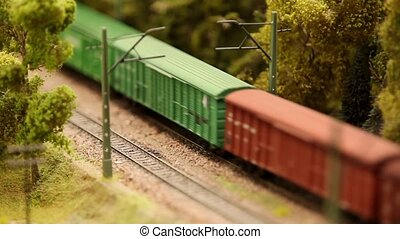 Freight train view from above - Freight train in Evergreen...