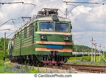 Freight train with gas and petroleum in Ukraine