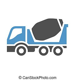 Freight transport icon - Air ballon - gray blue icon...