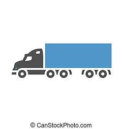 Freight transport icon - Air ballon - gray blue icon...