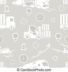 Freight transport seamless pattern