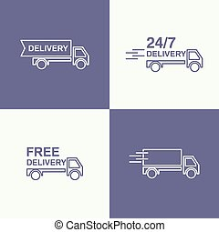 Freight transport vector - Freight transport. Concept...