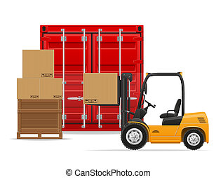 freight transportation concept illustration isolated on...