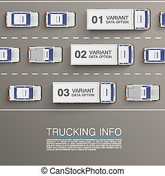 Freight transportation info art illustration. Vector background