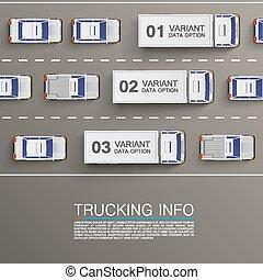Freight transportation info art illustration. Vector...