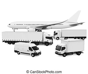 Freight Transportation isolated on