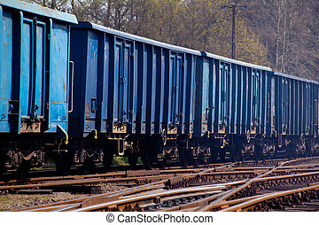 Freight transportation - Freight train shunting on the...
