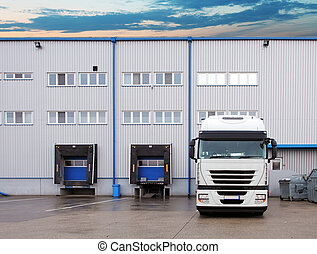 Freight Transportation - Truck in the warehouse