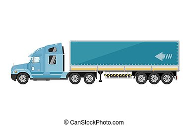 Freight truck isolated on white background