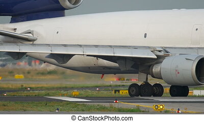 Freighter airplane taxiing