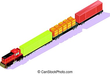 Freightliner Train Isometric Composition - Trains isometric...