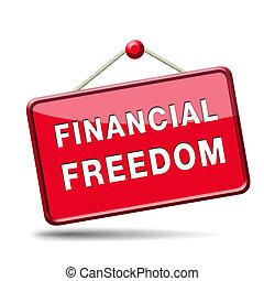 freiheit, zeichen, finanziell