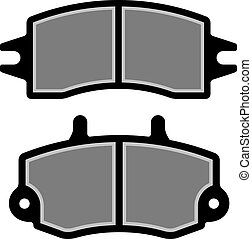 frein, silhouettes, vecteur, tampon, noir