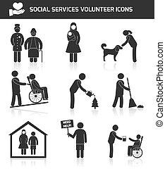 freiwilliger, satz, heiligenbilder