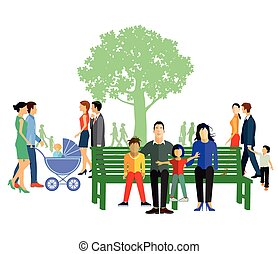 Freizeit mit Familie.eps - Leisure with family