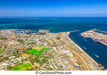 Fremantle Harbour aerial