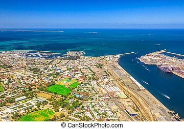 Fremantle Harbour aerial