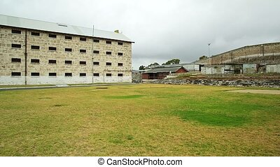 Fremantle Prison historic building, UNESCO World Heritage and one of most notorious prisons in British Empire. Fremantle is port city of Perth in Western Australia.