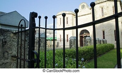 Facade of the prison of Fremantle, historic building and UNESCO World Heritage and one of most famous attractions.
