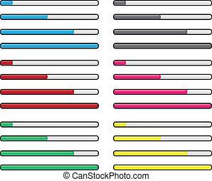 fremmarch, farver, bar
