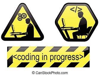 fremmarch, kodning, tegn