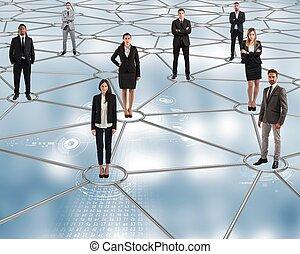fremtid, sociale, netværk