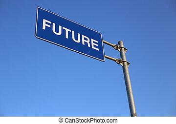 fremtid, vej underskriv