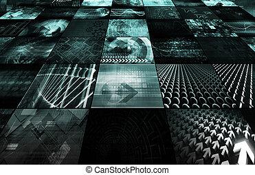 fremtidsprægede, netværk, energi, data, grid