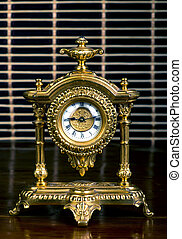 Antique French gold clock.