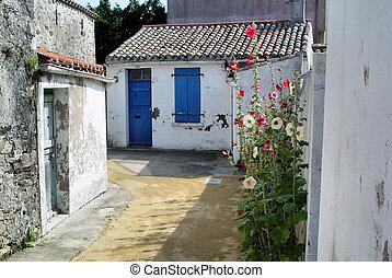Little white houses in France