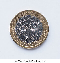 French 1 Euro coin