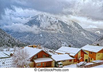 French alpine village