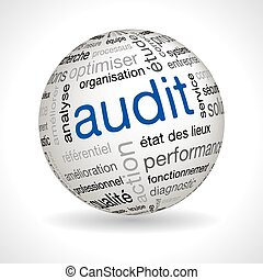 French Audit sphere with keywords