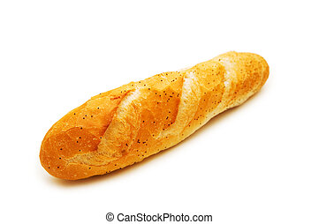 French baguette isolated on the white background