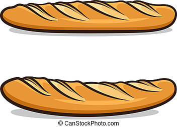 French baguette - Vector illustration of French baguettes...