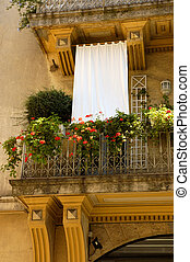 French Balcony With A Sunshade