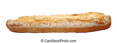 French bread isolated over white background