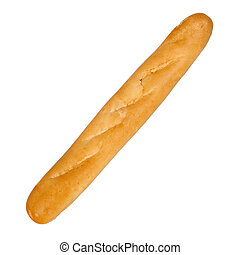French bread isolated over white