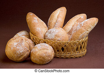 French bread with flour on top