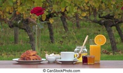 French breakfast  - quiet scene