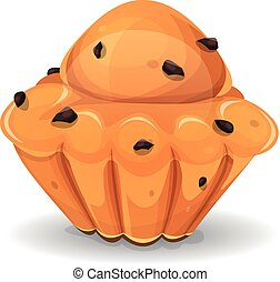 French Brioche With Chocolate Nuggets - Illustration of an ...
