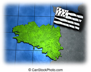 Brittany with its own flag - French Brittany with its own...