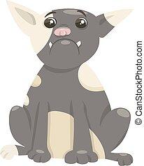 french bulldog dog cartoon