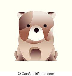 French bulldog dog, stylized geometric animal low poly design vector Illustration